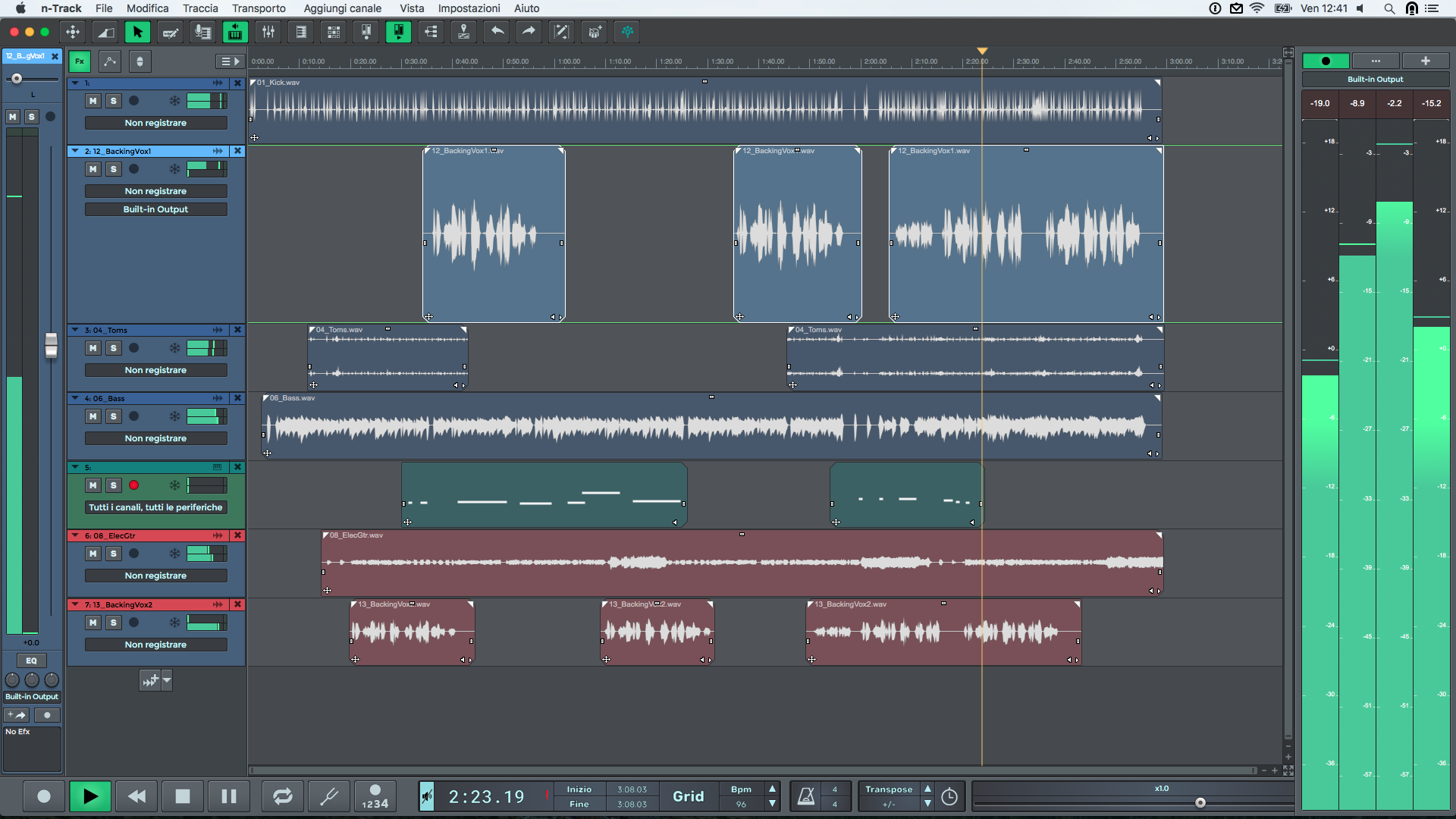 Multitrack Music Recording and Production software