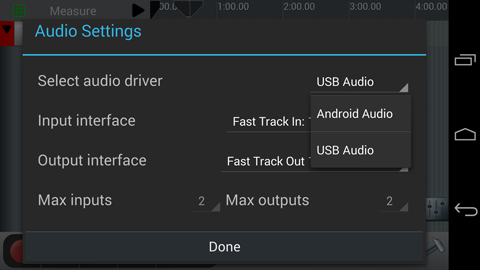 Android USB settings