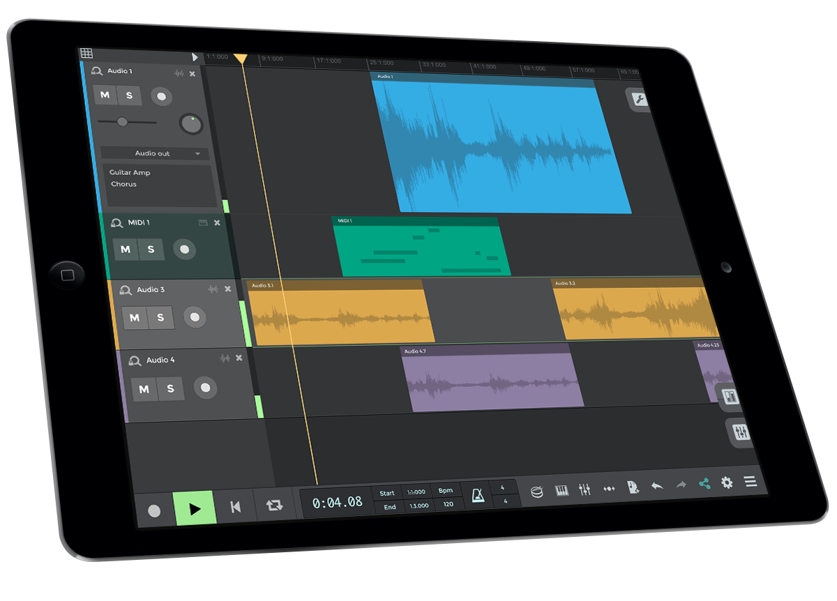 n-Track Studio mobile apps for iOS and Android