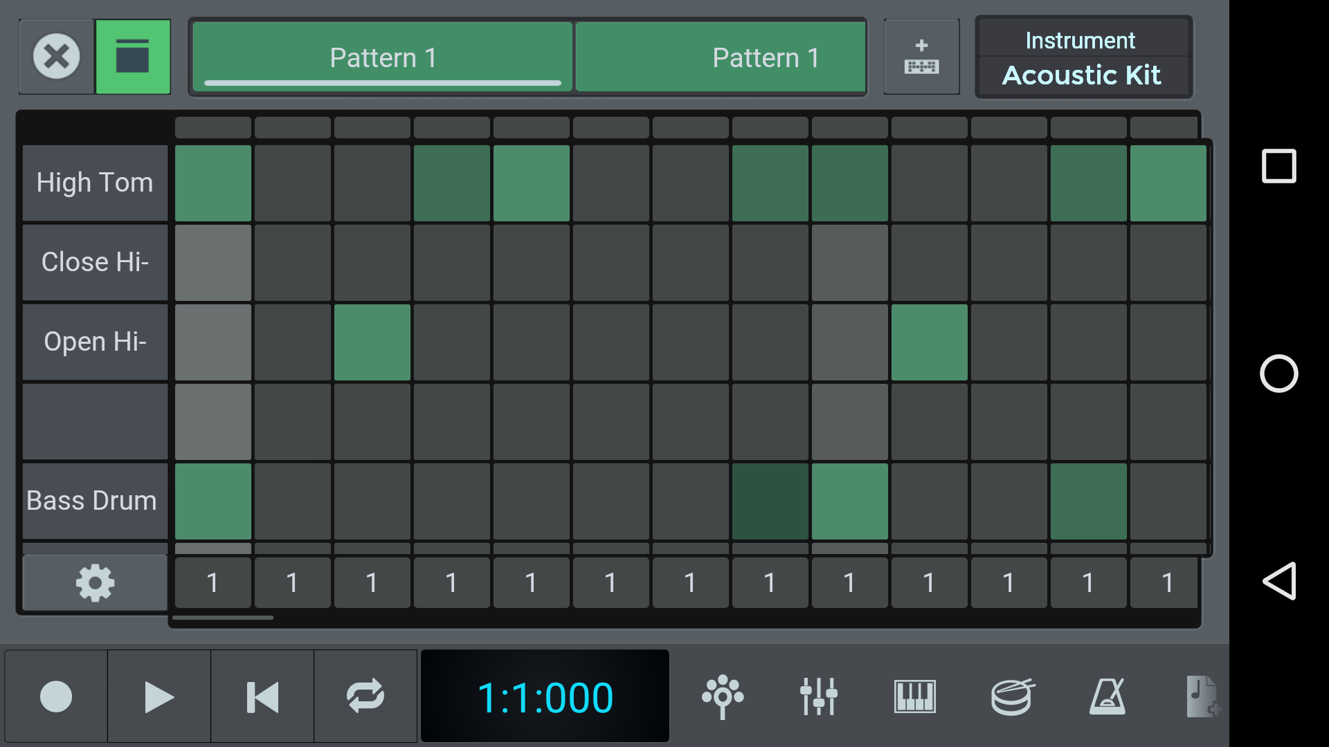 screen drum pad